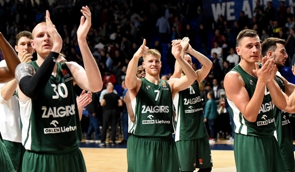 Zalgiris at home on the road