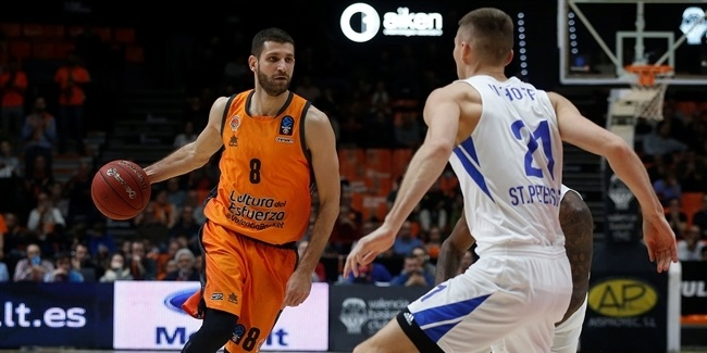 7DAYS EuroCup, Regular Season Round 9: Valencia Basket vs. Zenit St Petersburg