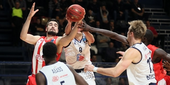 7DAYS EuroCup, Regular Season Round 9: Crvena Zvezda mts Belgrade vs. Germani Brescia Leonessa