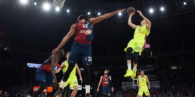 Competitive EuroLeague: Four teams separated by only points difference
