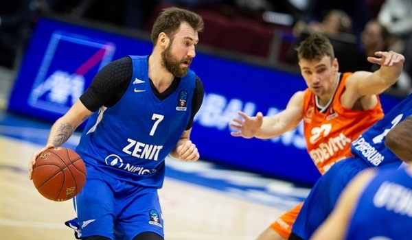 Top 16 Round 2: Karasev leads Zenit bombers to home win over Cedevita