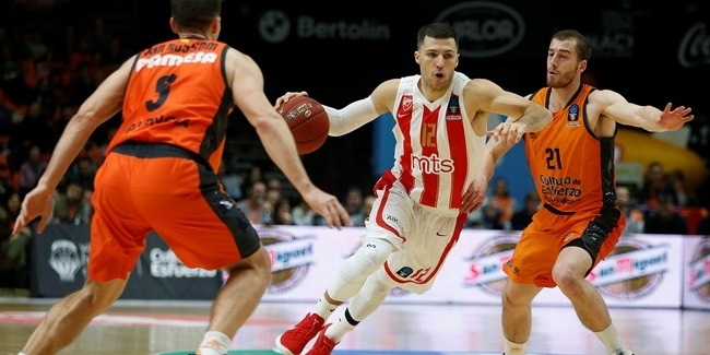 7DAYS EuroCup, Top 16 Round 3: Valencia Basket vs. Crvena Zvezda mts Belgrade