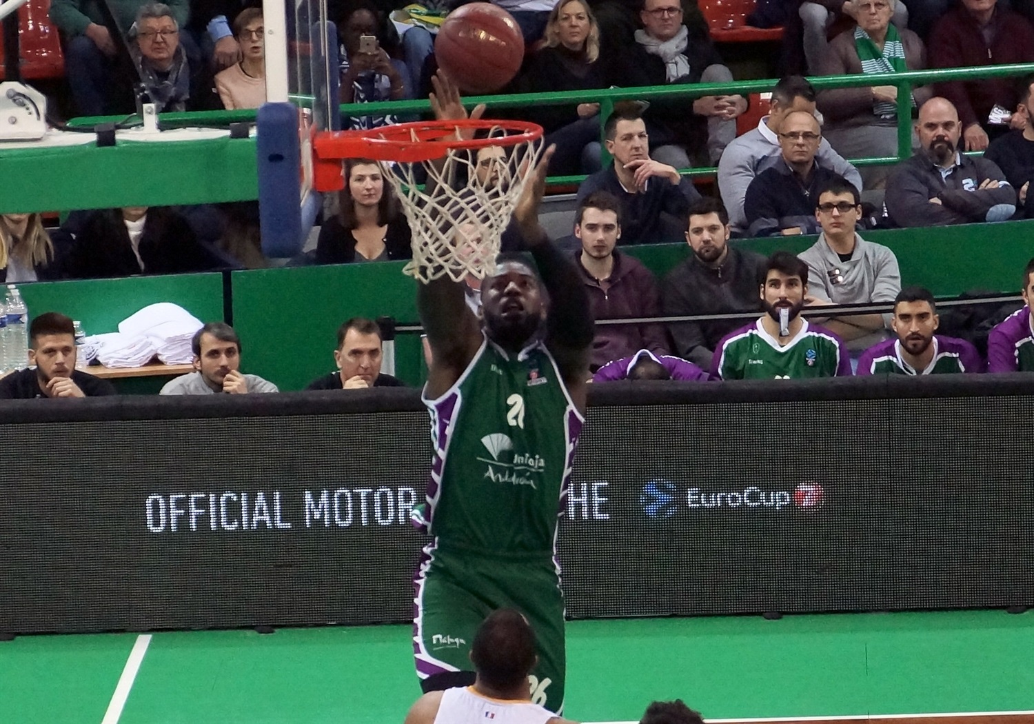 Mathias Lessort - Unicaja Malaga (photo Limoges) - EC18