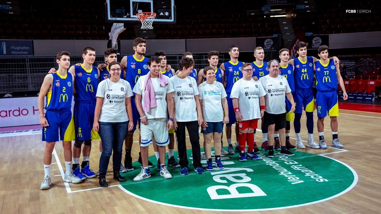 One Team with U18 Maccabi Teddy Tel Aviv - ANGT Munich 2019 (photo FCBB - Eirich) JT18