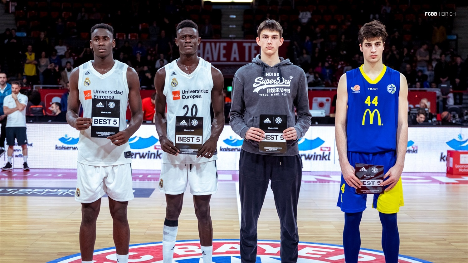 All-Tournament Team - ANGT Munich 2019 (photo FCBB - Eirich) JT18