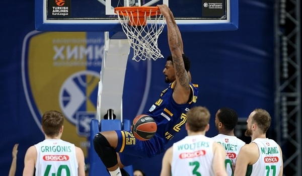 RS Round 21 report: Khimki's fourth-quarter charge sinks Zalgiris