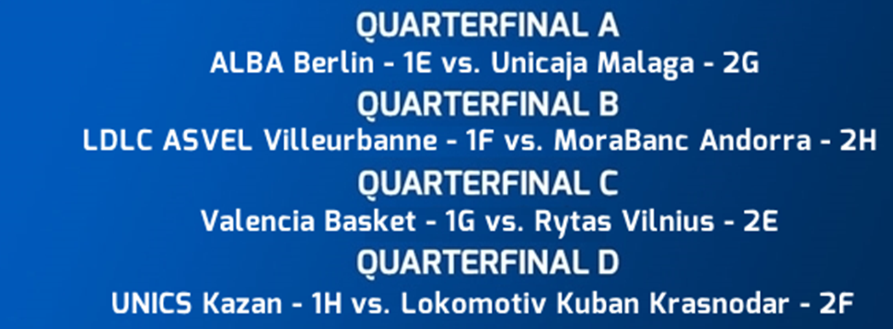 Next stop, 7DAYS EuroCup Quarterfinals on March 5!
