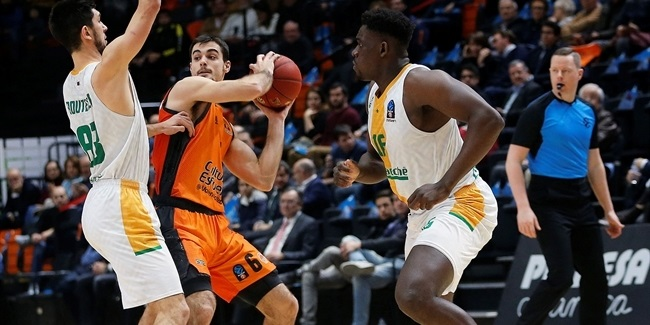 7DAYS EuroCup, Top 16 Round 6: Valencia Basket vs. Limoges CSP