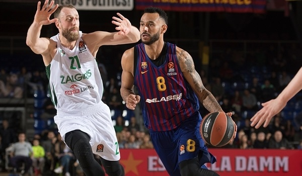 RS Round 22 report: Barcelona battles hard, holds off Zalgiris