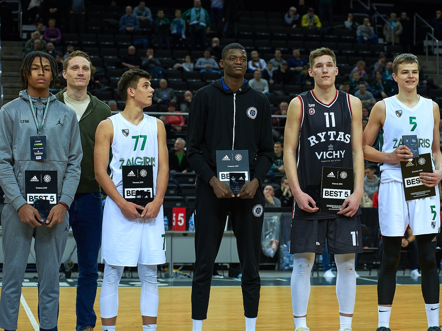 All-Tournament Team ANGT Kaunas 2019 (photo Zalgiris) - JT18