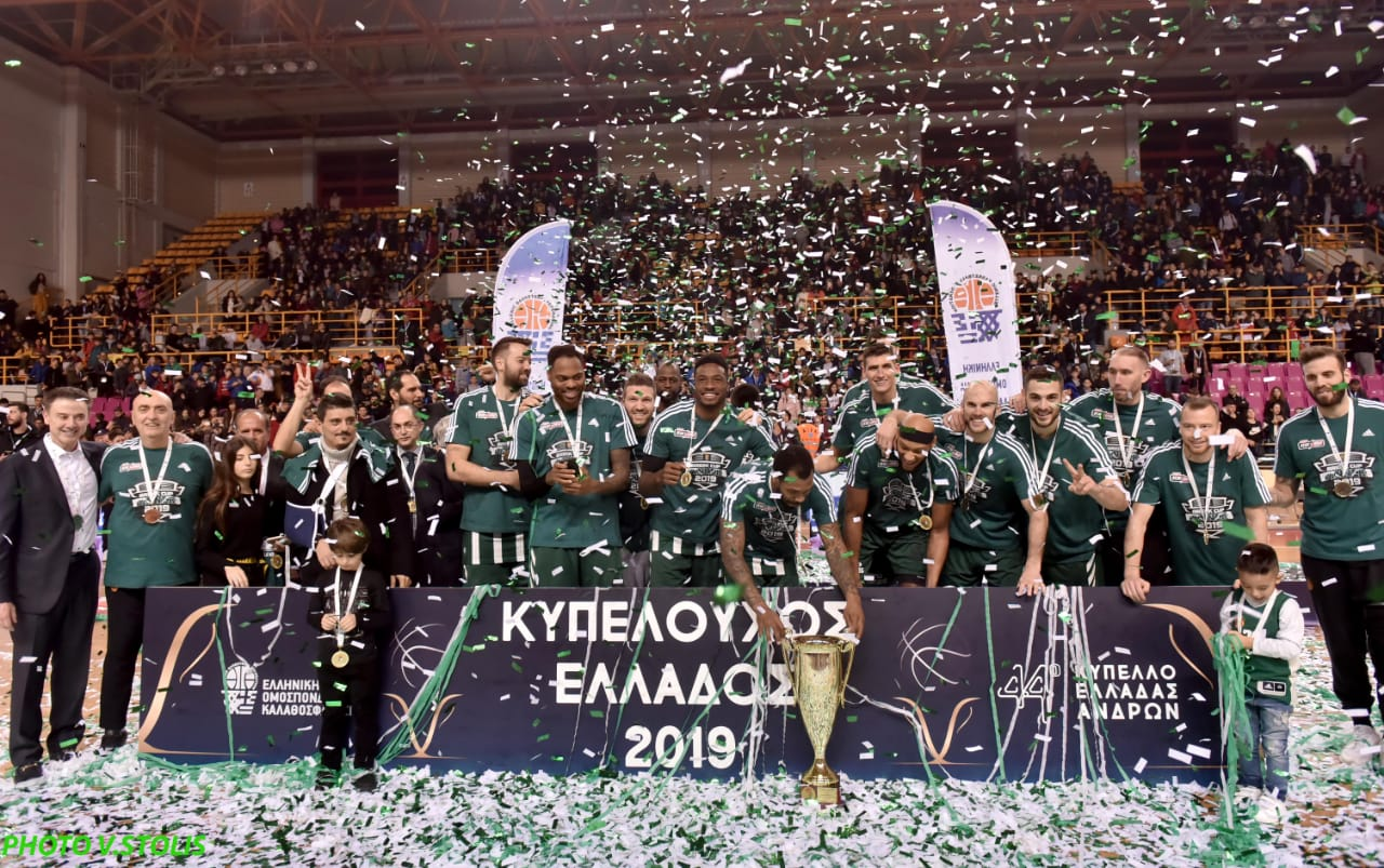 Panathinaikos OPAP Athens champ Greek Cup 2019 (photo Panathinaikos)