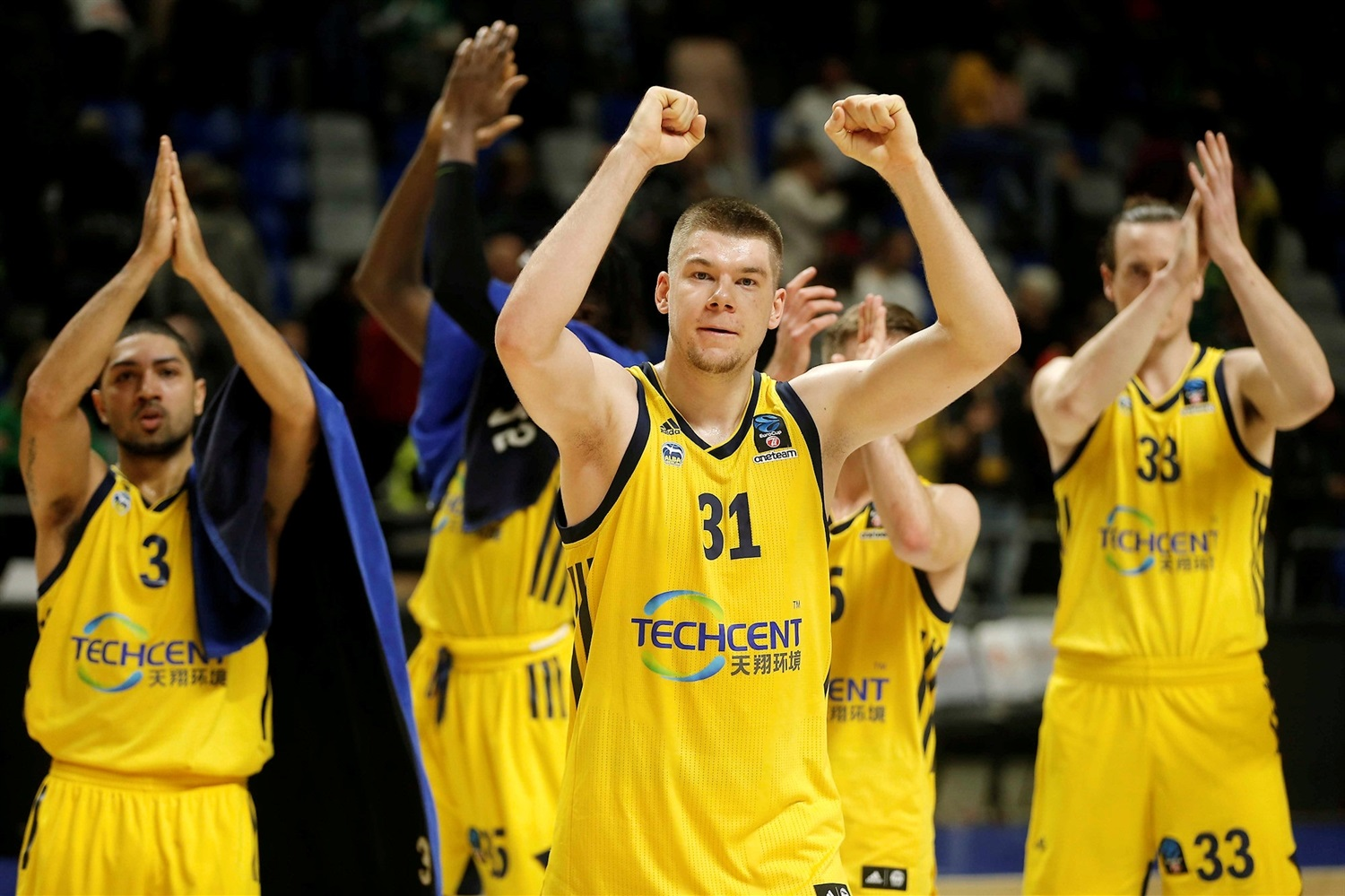 Rokas Giedraitis celebrates - ALBA Berlin (photo Mariano Pozo - Unicaja) - EC18