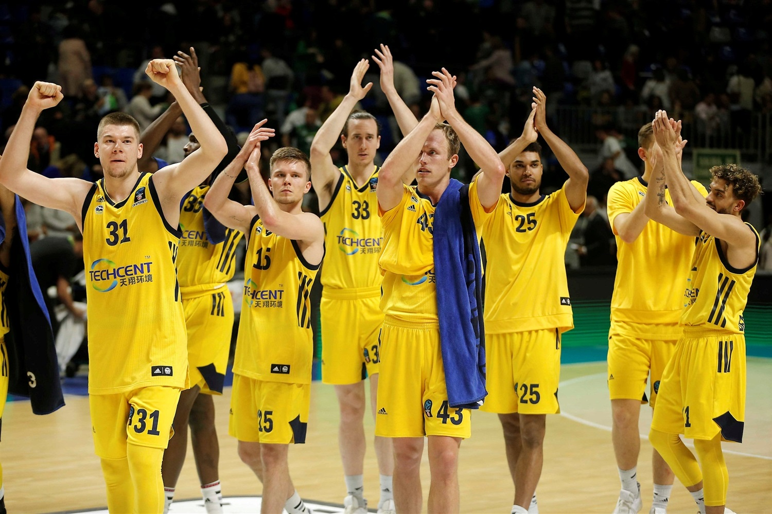 ALBA Berlin celebrates (photo Mariano Pozo - Unicaja) - EC18