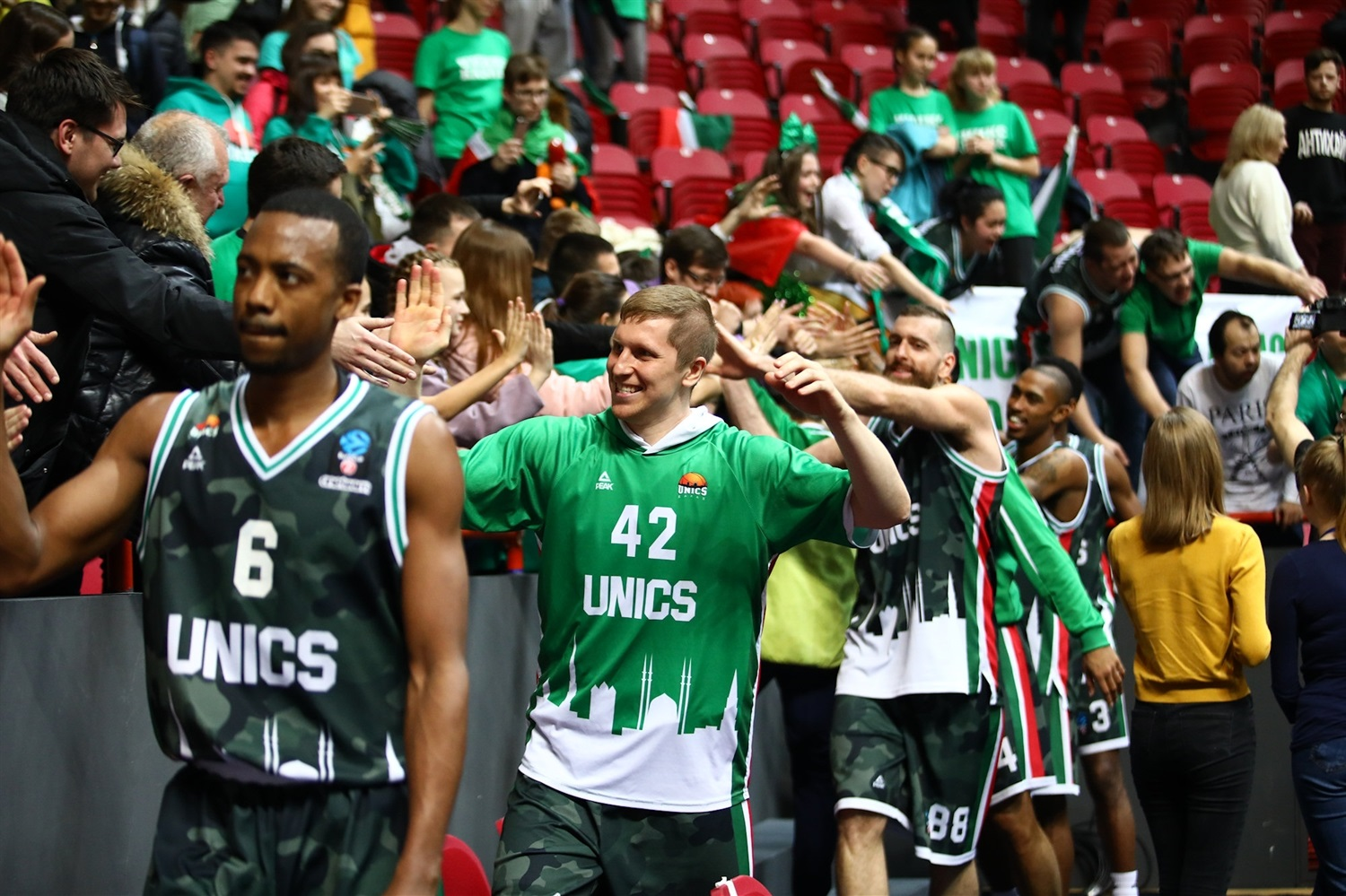 UNICS Kazan celebrates (photo UNICS) - EC18