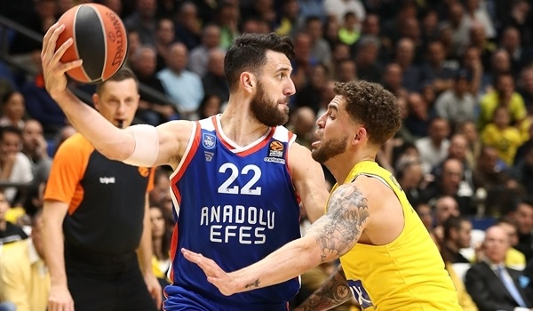 RS Round 26 report: Strong second half leads Efes past Maccabi