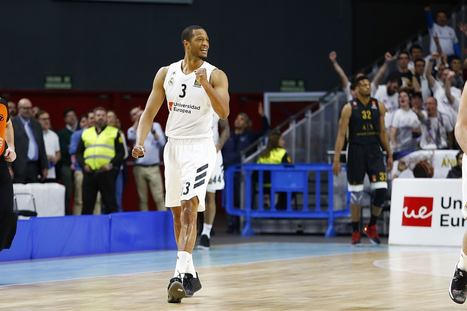 Anthony Randolph celebrates - Real Madrid - EB18