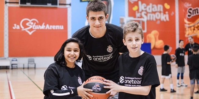Partizan and One Team build friendships through basketball