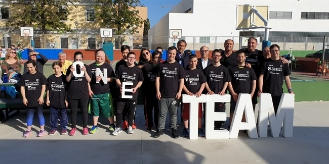 Unicaja, One Team support Down Syndrome association