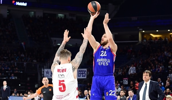 RS Round 30 report: Efes KO's Milan in a shootout