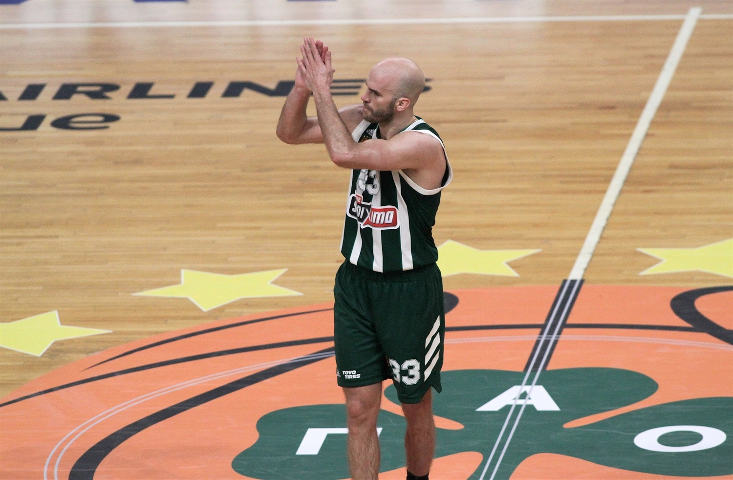 Nick Calathes celebrates - Panathinaikos OPAP Athens - EB18