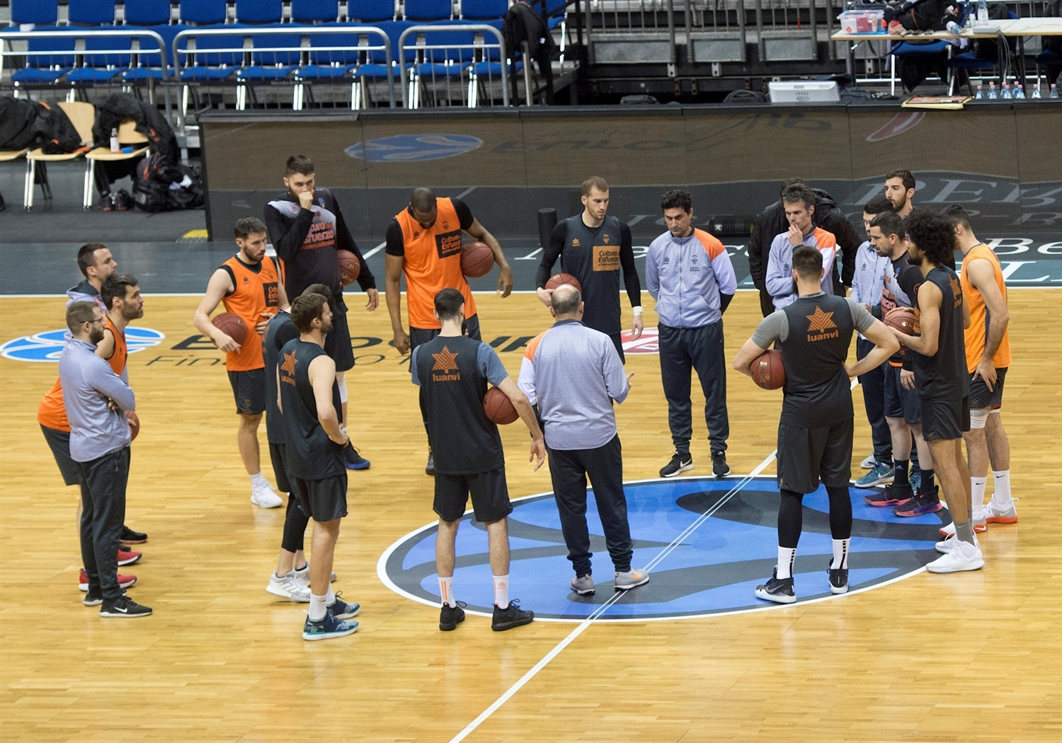 Valencia Basket practices - Finals Game 2 - EC18