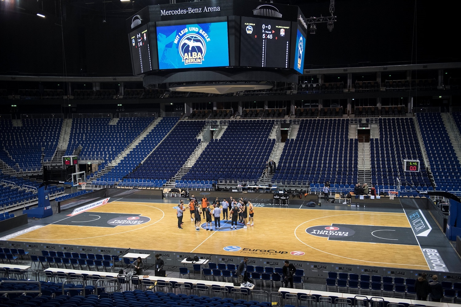 Valencia Basket practices in Mercedes-Benz Arena - Finals Game 2 - EC18