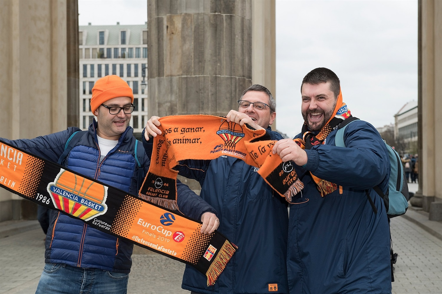 Valencia Basket fans in Berlin - Finals Game 2 - EC18