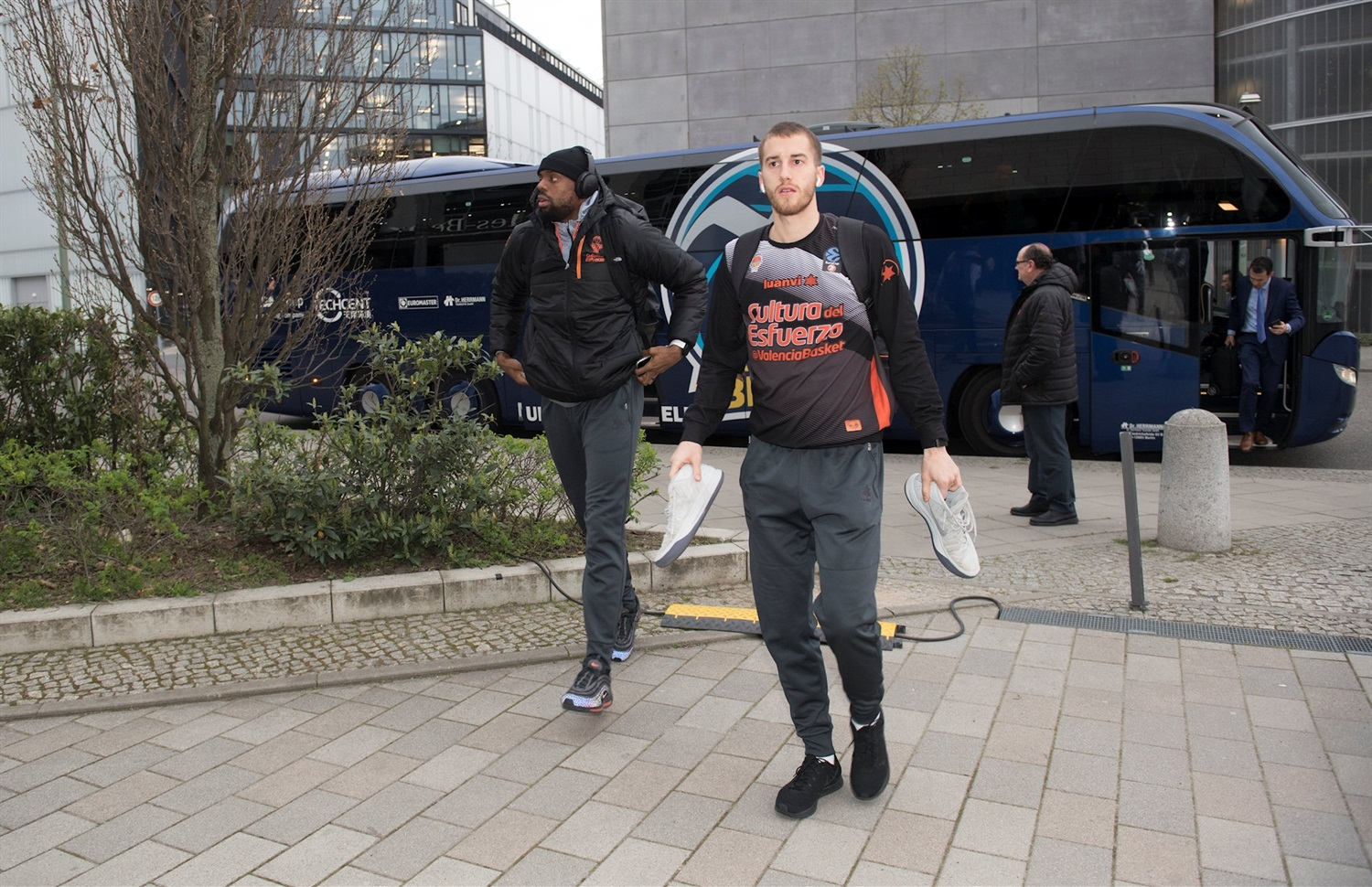 Matt Thomas - Valencia Basket arrival Mercedes-Benz Arena - Finals Game 2 - EC18