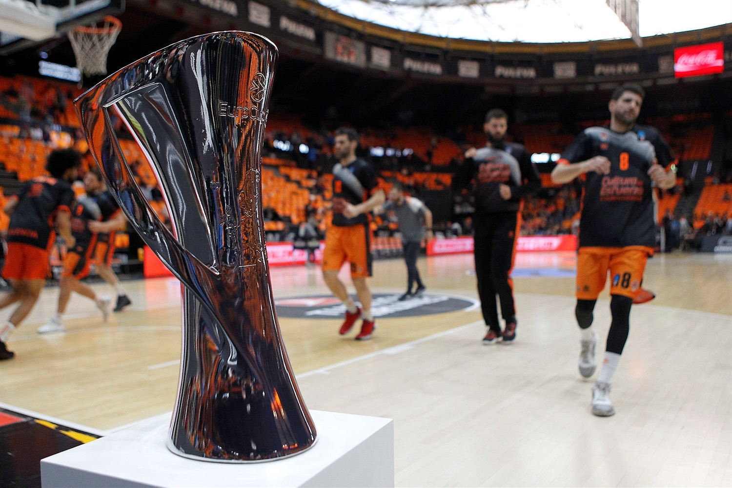 EuroCup Trophy - Valencia vs. ALBA in pregame - EuroCup Finals Game 3 - EC18