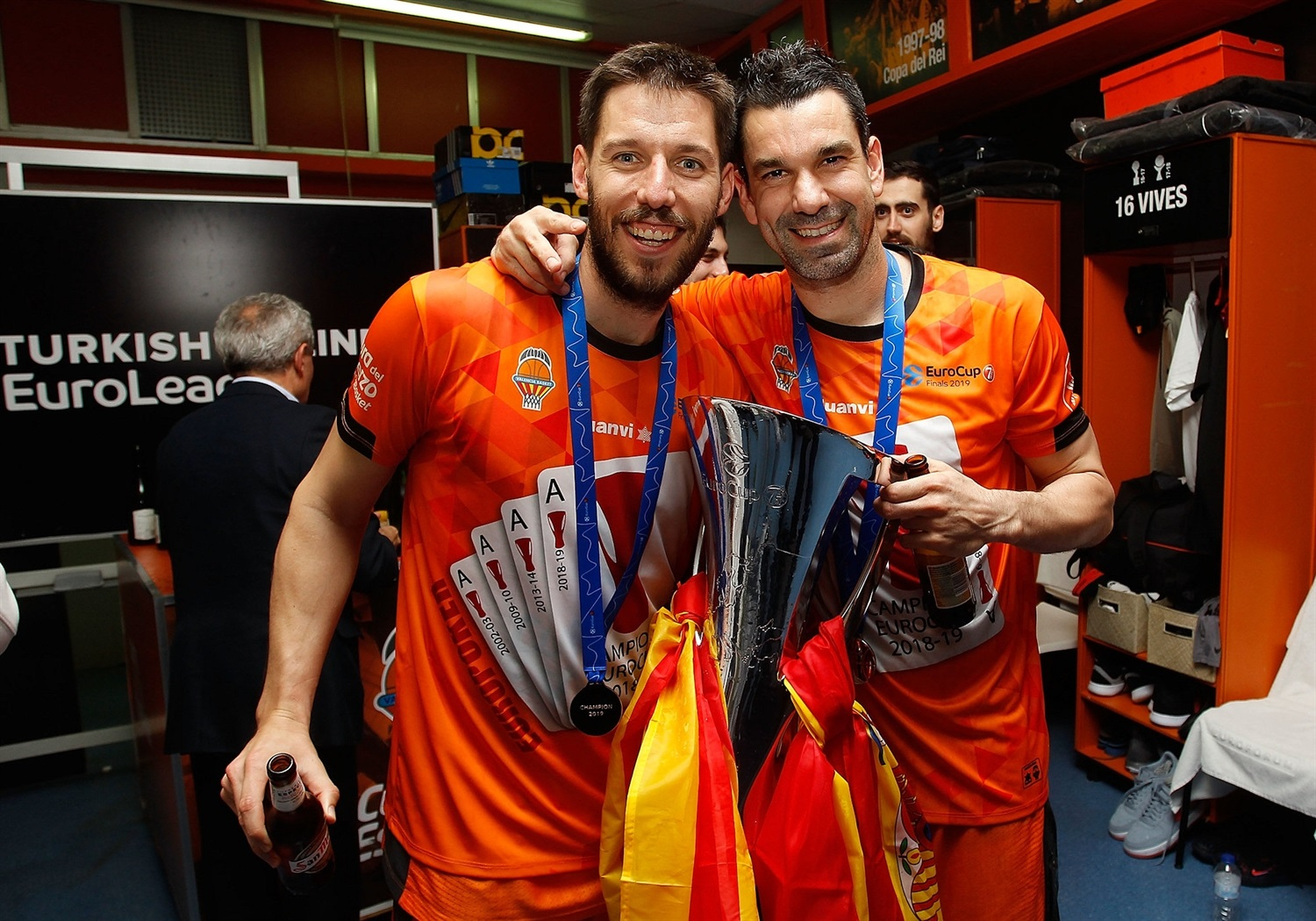Sam Van Rossom and Rafa Martinez - Valencia Basket champ - EuroCup Finals Game 3 - EC18