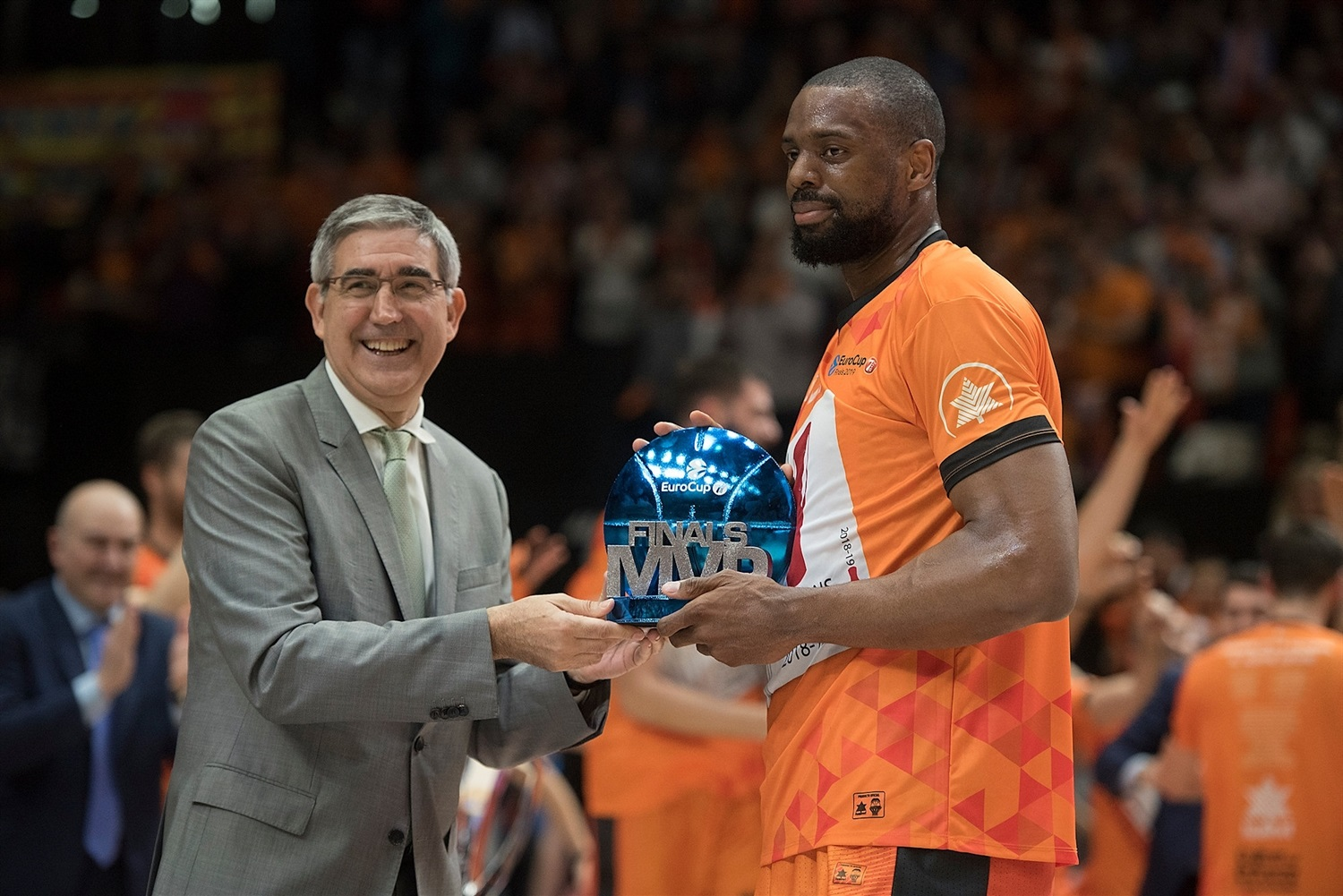 Jordi Bertomeu and Will Thomas, Finals MVP - Valencia Basket - EuroCup Finals Game 3 - EC18