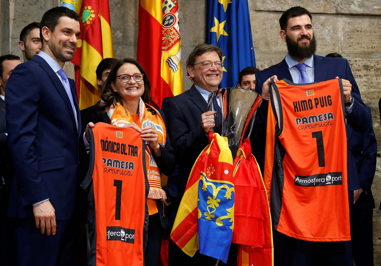 Team visit Generalitat Valenciana - Valencia Basket celebrates EuroCup champ in Valencia - EuroCup Finals 2018-19 (photo Valencia Basket) - EC18