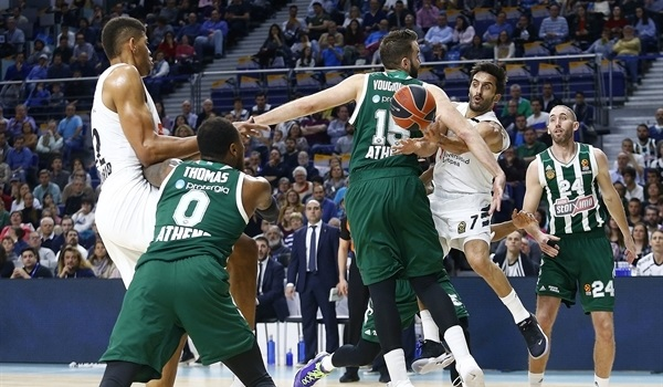 PO Game 2 report: Madrid races past Panathinaikos, goes up 2-0
