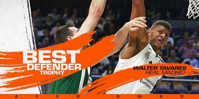 EuroLeague Best Defender: Walter Tavares, Real Madrid