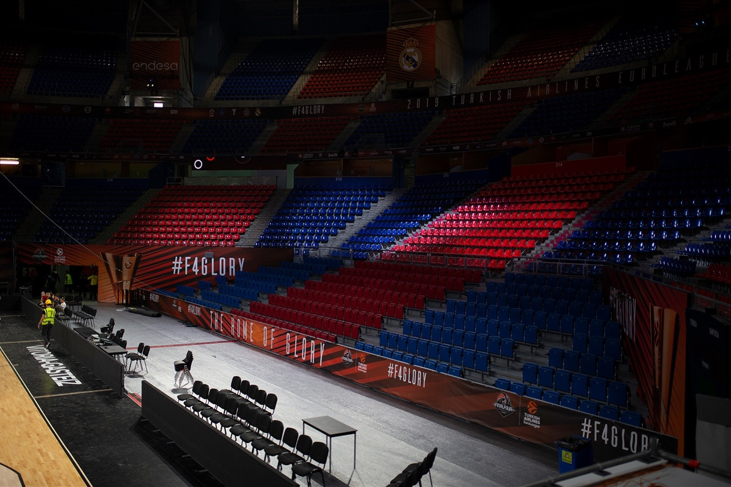 Set-up Fernando Buesa Arena - Final Four Vitoria-Gasteiz 2019 - EB18