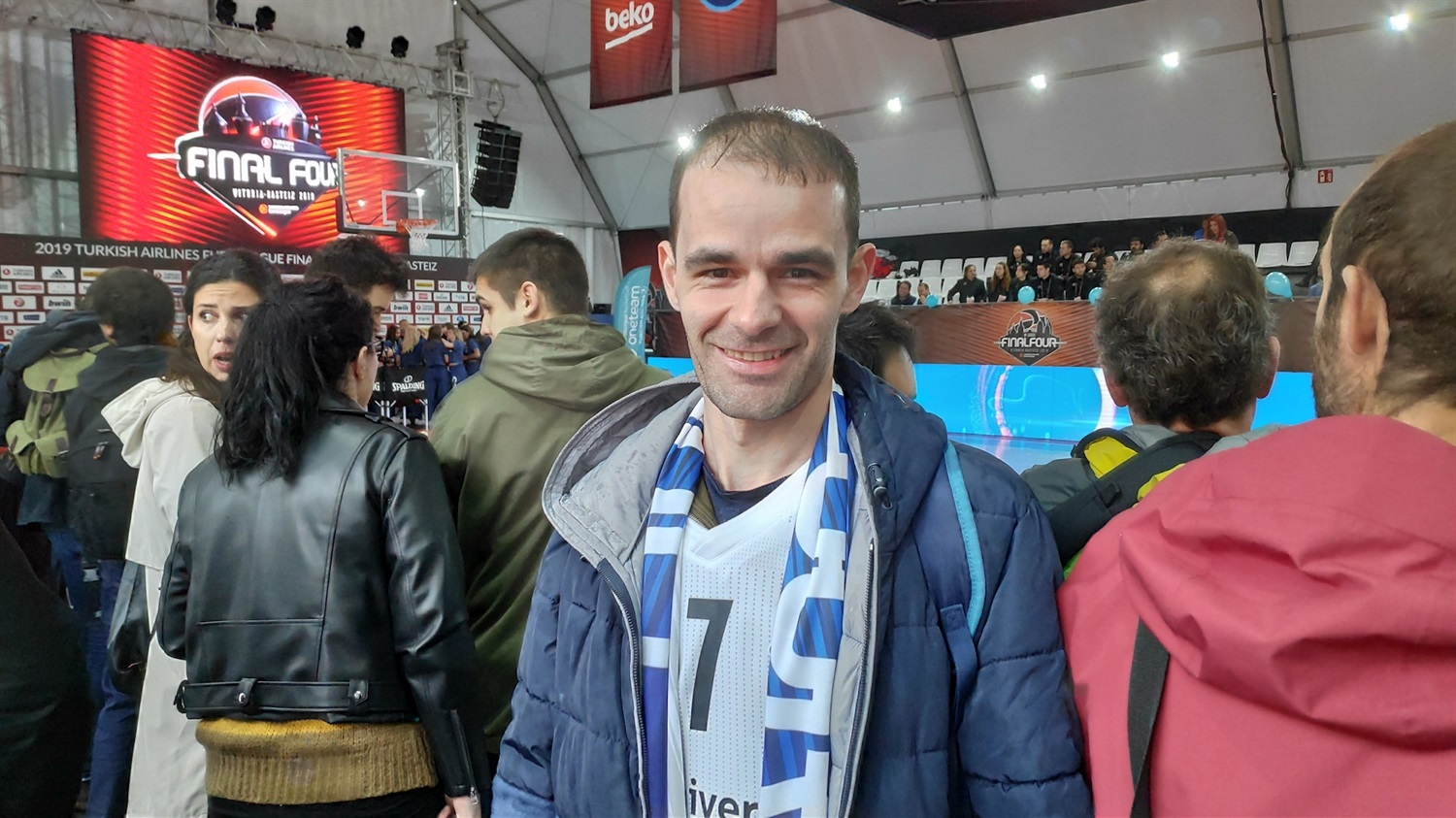 Real Madrid fan at FanZone - Final Four Vitoria-Gasteiz 2019 - EB18