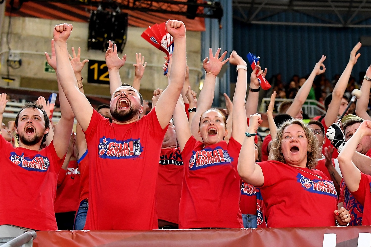 Fans celebrates - CSKA Moscow - Final Four Vitoria-Gasteiz 2019 - EB18