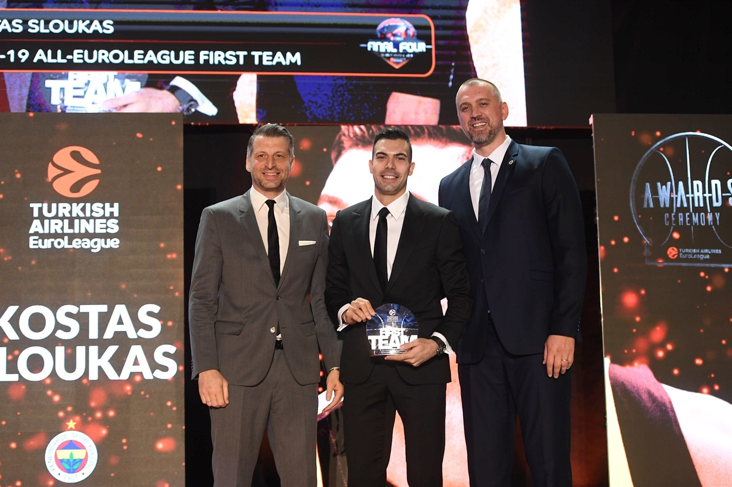 Kostas Sloukas, First Team - 2018-19 Awards Ceremony - Final Four Vitoria-Gasteiz 2019 - EB18