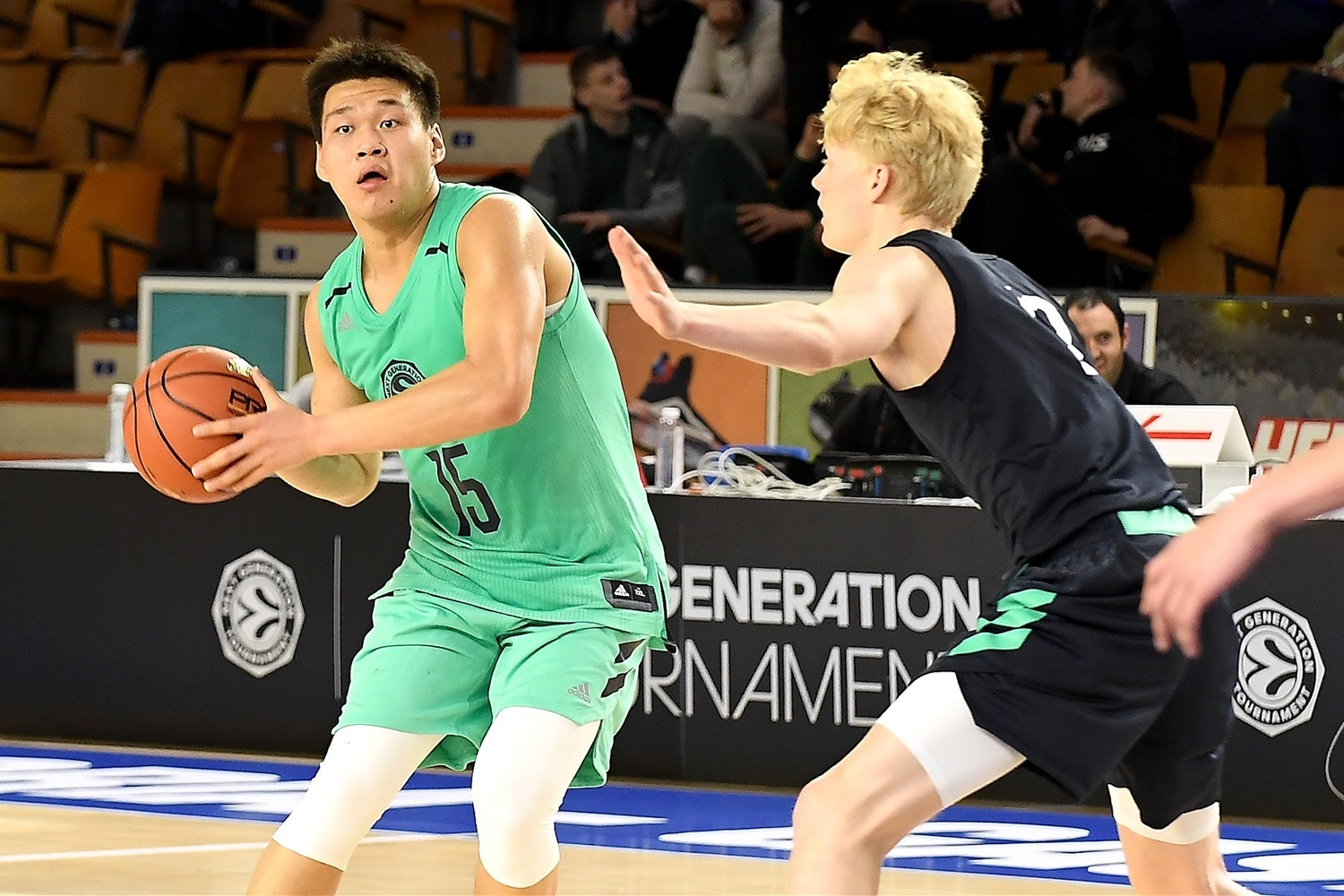 Yilong Li of Team Asia - International All Star Game presented by adidas - Final Four Vitoria-Gasteiz 2019 - J18