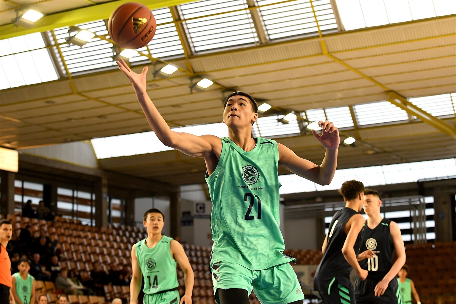 Diancheng Ma of Team Asia - International All Star Game presented by adidas - Final Four Vitoria-Gasteiz 2019 - J18