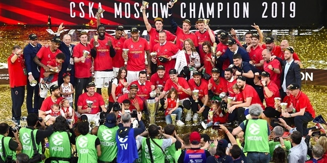 Final Four Vitoria-Gasteiz 2019: CSKA Moscow title celebration!