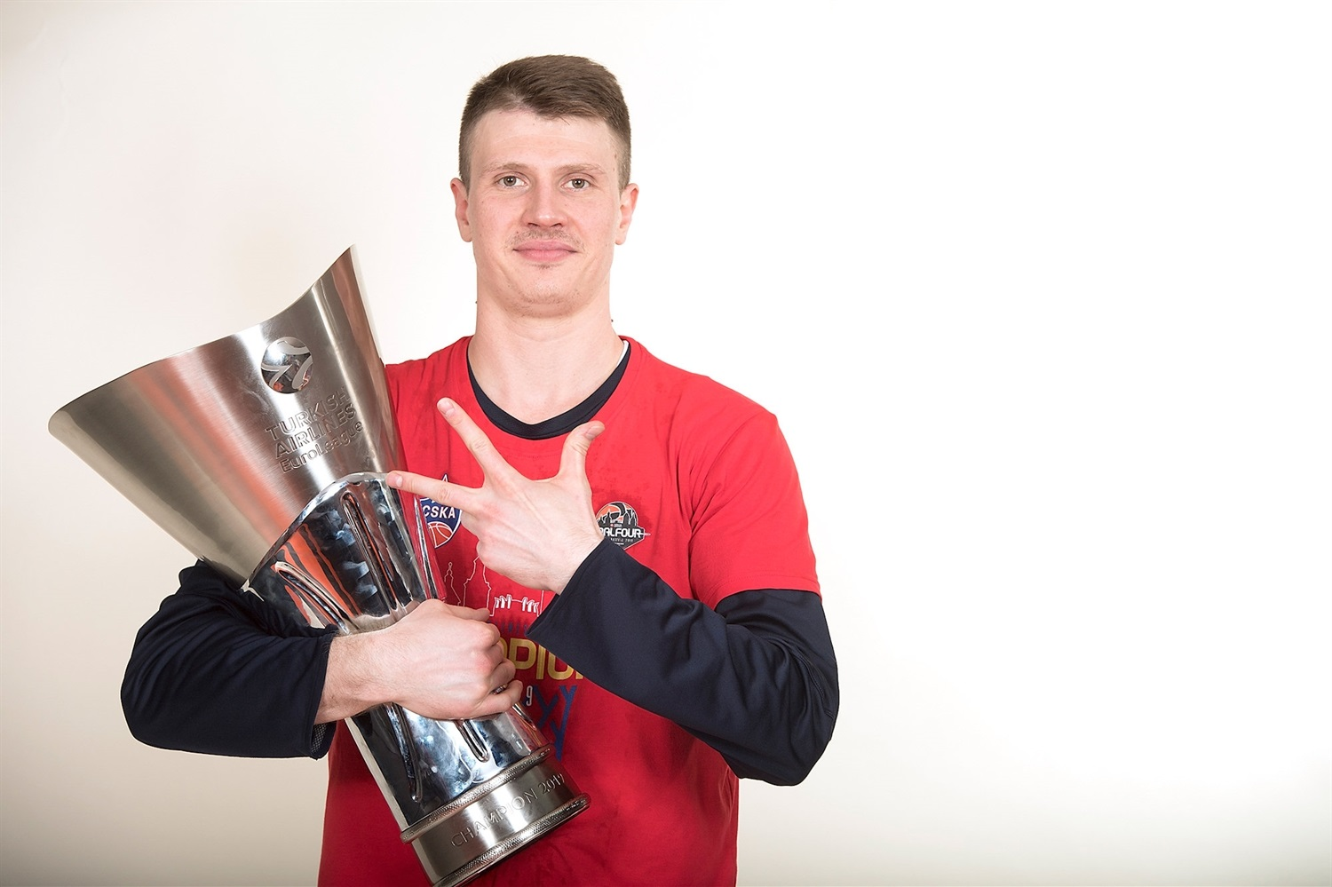 Andrey Vorontsevich - CSKA trophy photo shoot - Final Four Vitoria-Gasteiz 2019 - EB18