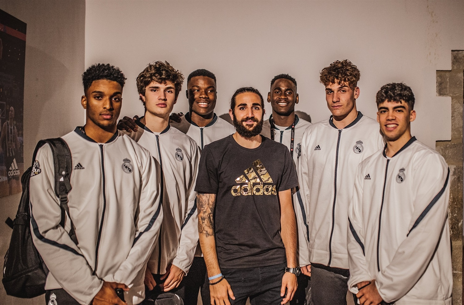 Ricky Rubio with players U18 Real Madrid - Players Educational Session - JT18
