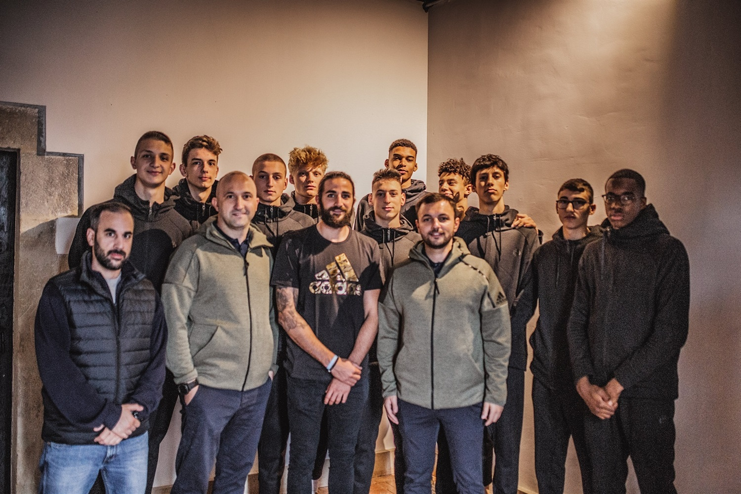 Ricky Rubio with players Team Europe of  International All Star Game presented by adidas - Players Educational Session - JT18