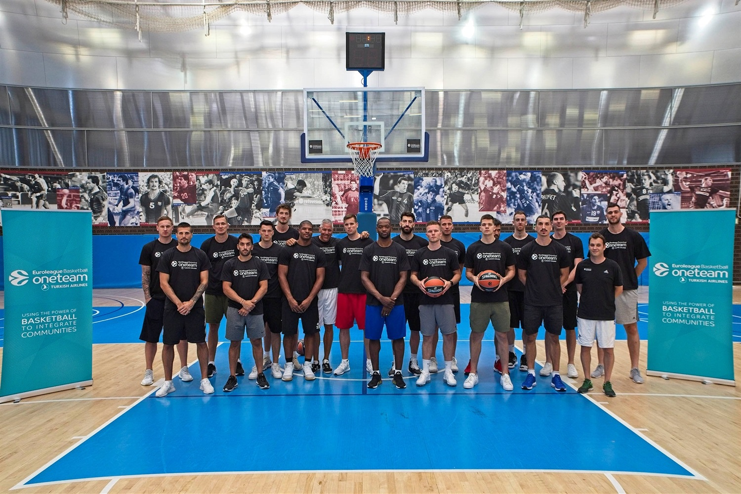 Euroleague players, One Team Session in Barcelona 2- EB19