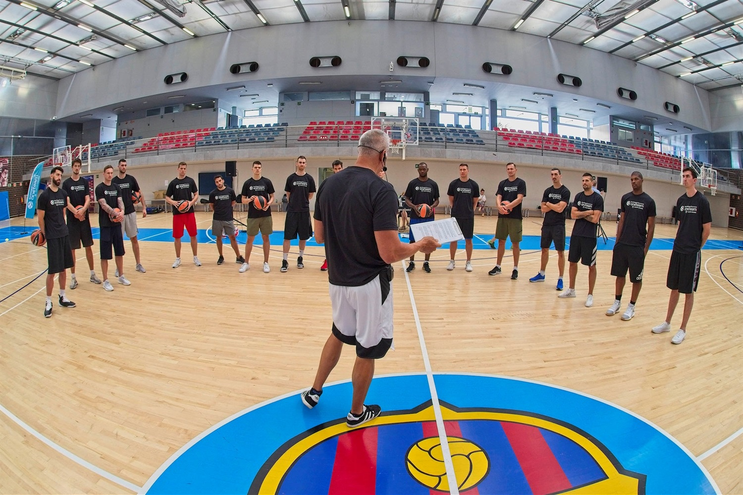 Euroleague players, One Team Session in Barcelona