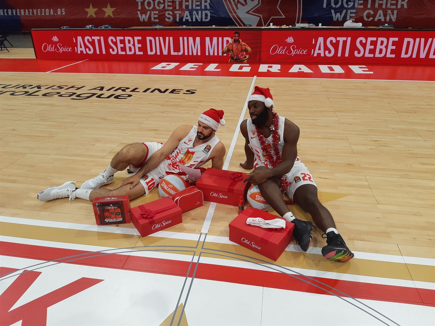 Branko Lazic and Charles Jenkins - Crvena Zvezda mts Belgrade Media day 2019 - EB19