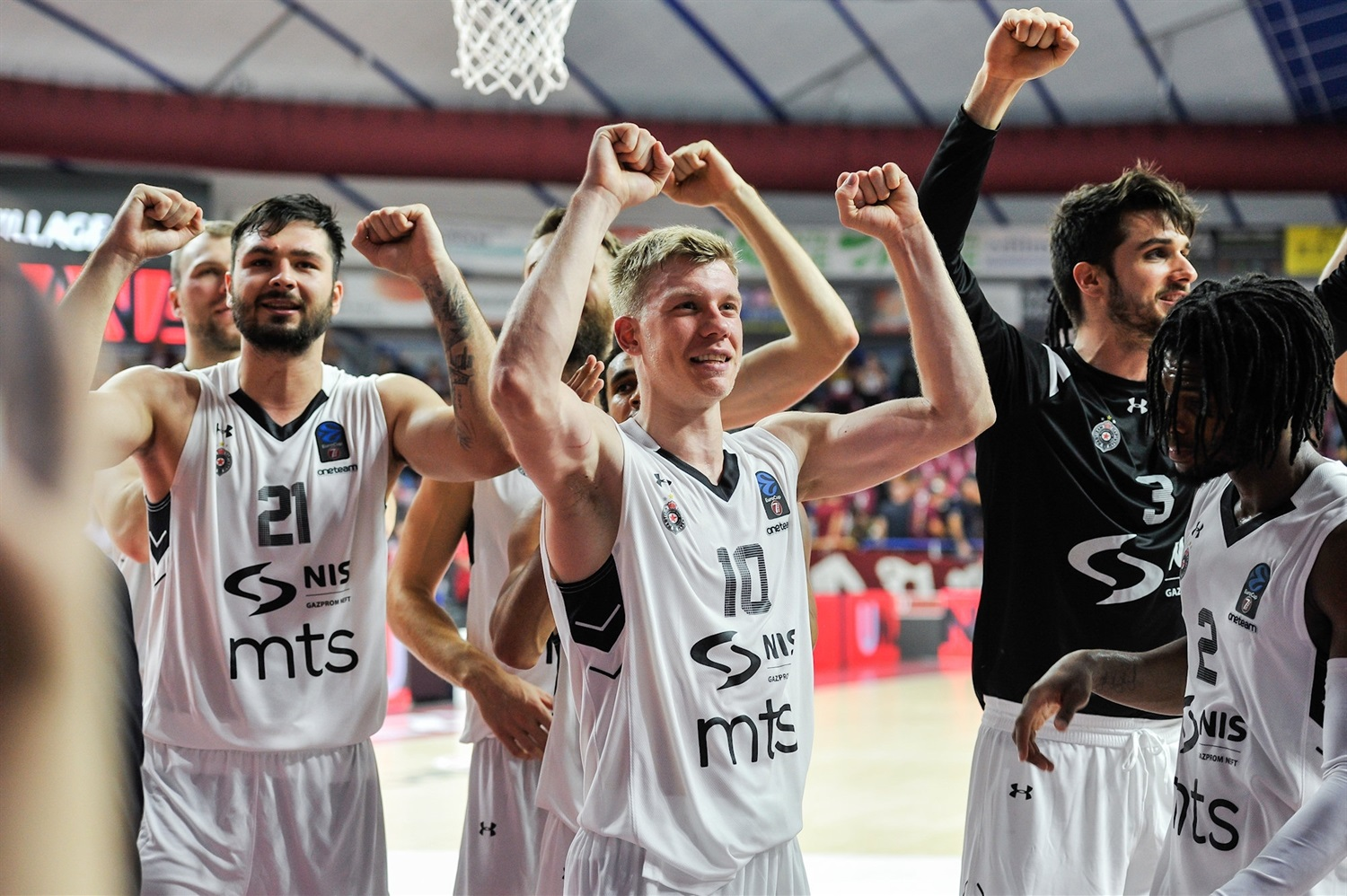 Celebration - Partizan NIS Belgrade (photo Reyer Venice) - EC19