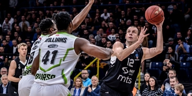 7DAYS EuroCup, Regular Season Round 2: Partizan NIS Belgrade vs. Tofas Bursa