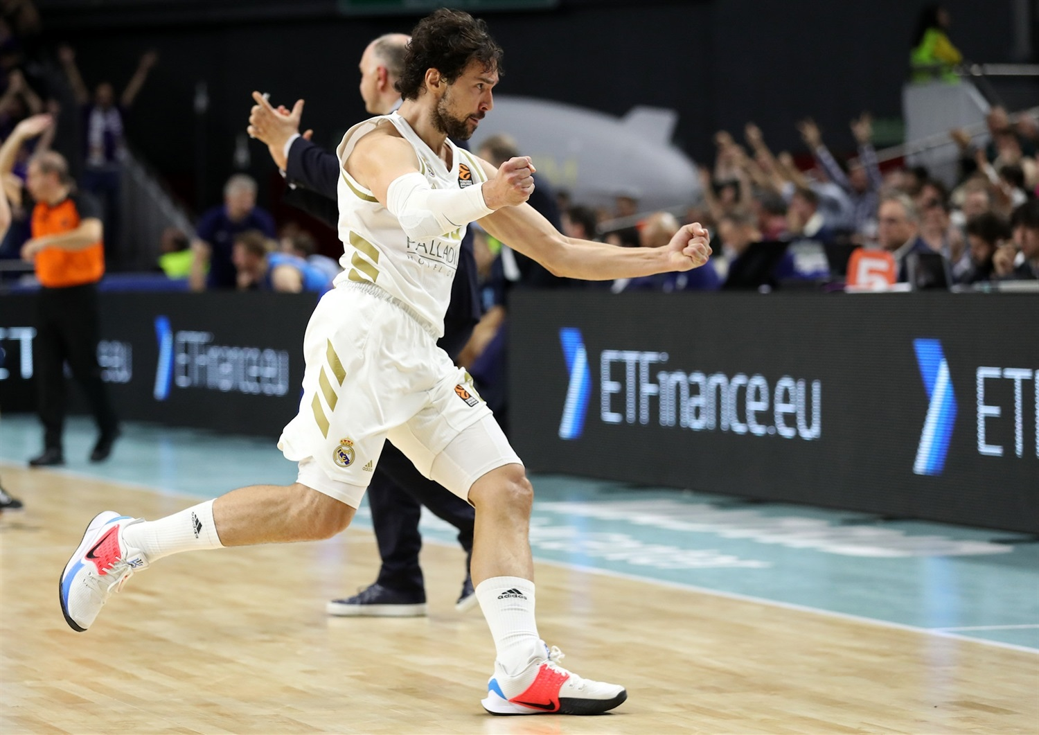 Sergio Llull celebrates - Real Madrid - EB19